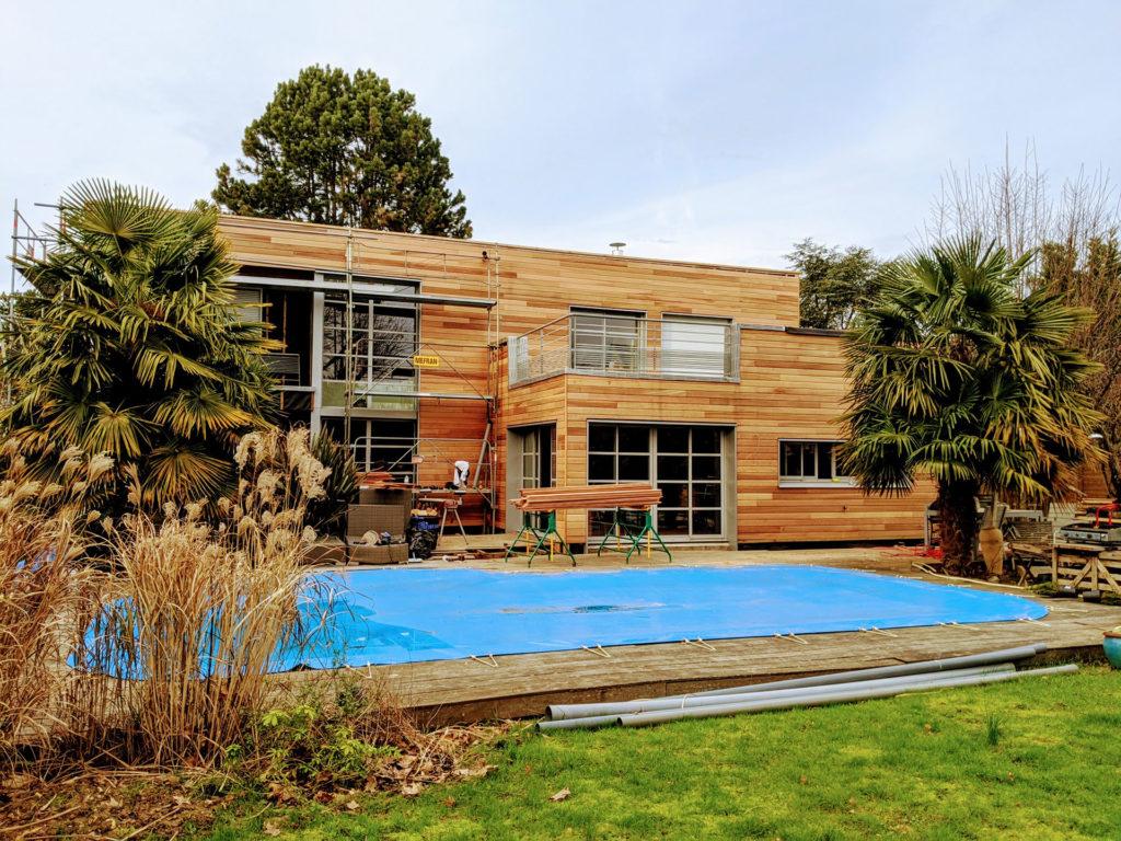 Maison bois moderne