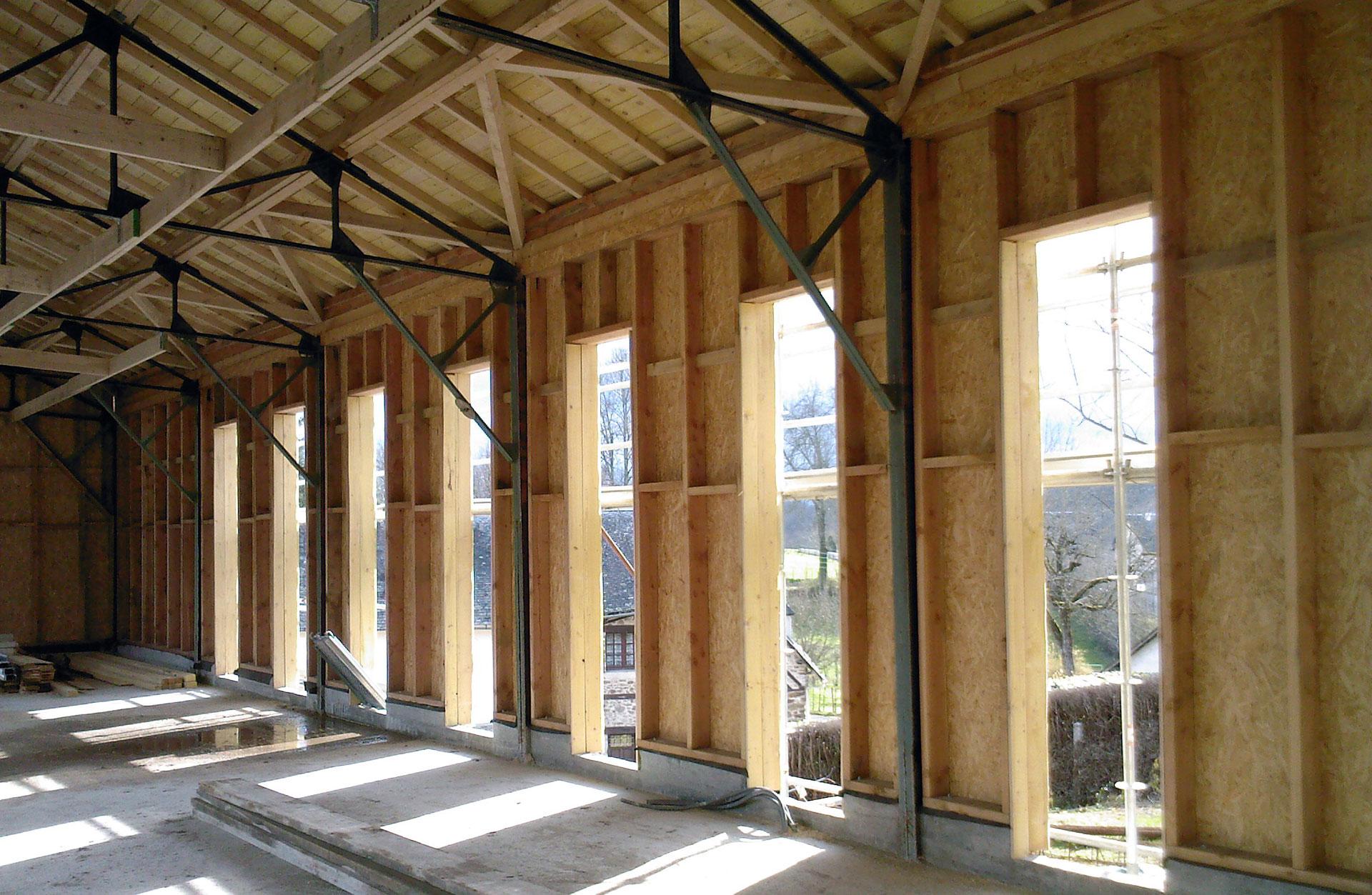 structure bois metal
